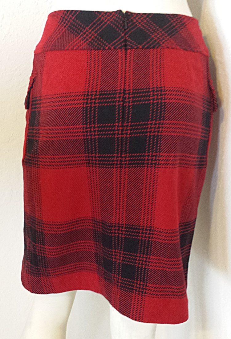 "05d1a25c6 Talbots"" Fiery Red & Black Plaid Pencil Skirt – J London Boutique"